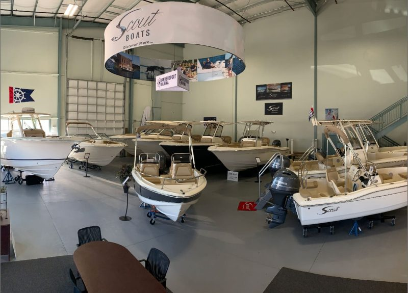 Danversport Marina's Scout Boat Showroom